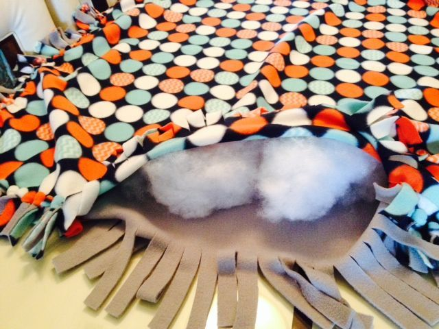 No sew floor pillow,  great for kids: