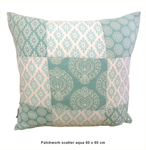 Sillybilly Patchwork scatter Aqua