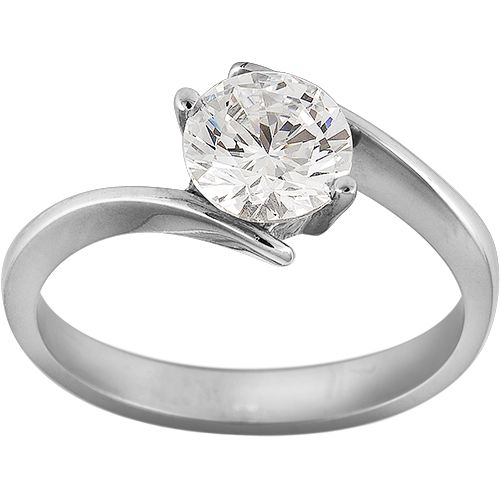 0.38ct Diamond Solitaire Engagement Ring in 18ct White Gold