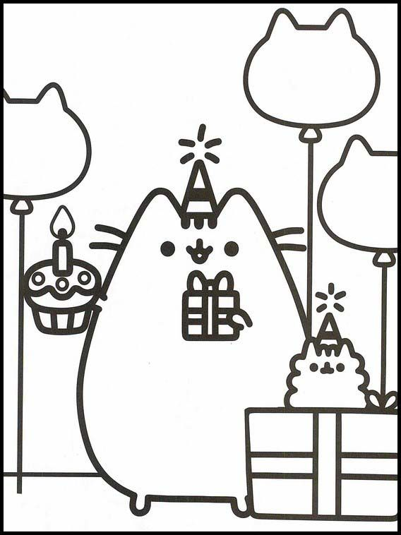- Pusheen 73 Printable Coloring Pages For Kids In 2020 Pusheen Coloring  Pages, Cute Coloring Pages, Cat Coloring Page