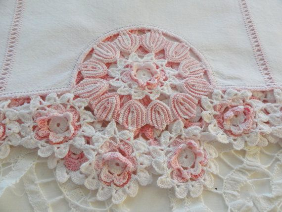 Beautiful runner with crochet at both ends....