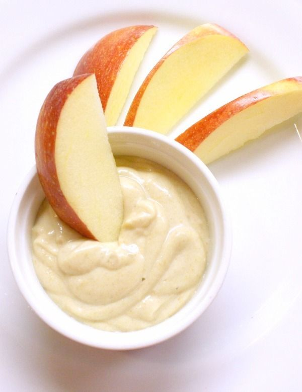 Healthy options : honey and peanut butter dip
