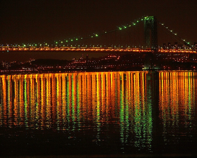 George Washington Bridge at night