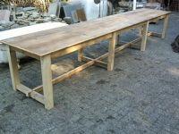 lange tafels van oud hout