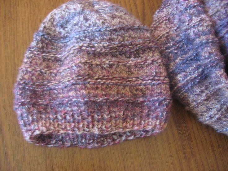 Ocieplacz i czapka na drutach