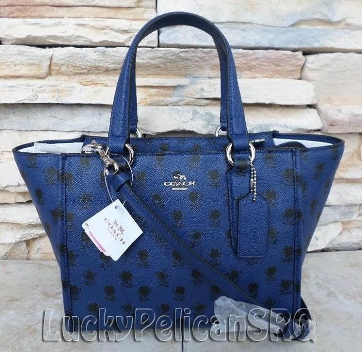 COACH 34774 CROSBY mini  Satchel Bag  leather Silver/ Blue Black Badlands NWT #Coach #Satchel