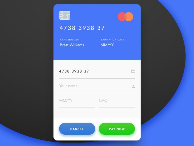 Dribbble - Day 002 - Credit Card Checkout by Brett