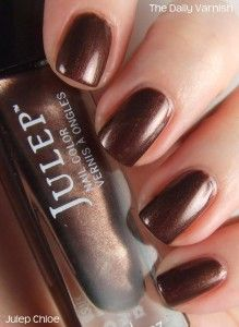 Name: Chloe | Brand: Julep | Type: Warm Cocoa Frost | Finish: Sheer/Frost/Pearl | Style: It Girl