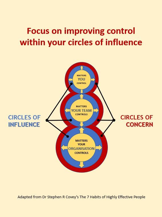 Circles Of Control In 2021 Circle Of Control Risk Management Highly Effective People