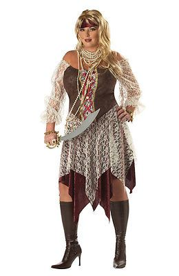 Women Costumes: Brand New Plus Size South Seas Siren Pirate Adult Halloween Costume -> BUY IT NOW ONLY: $15.91 on eBay!