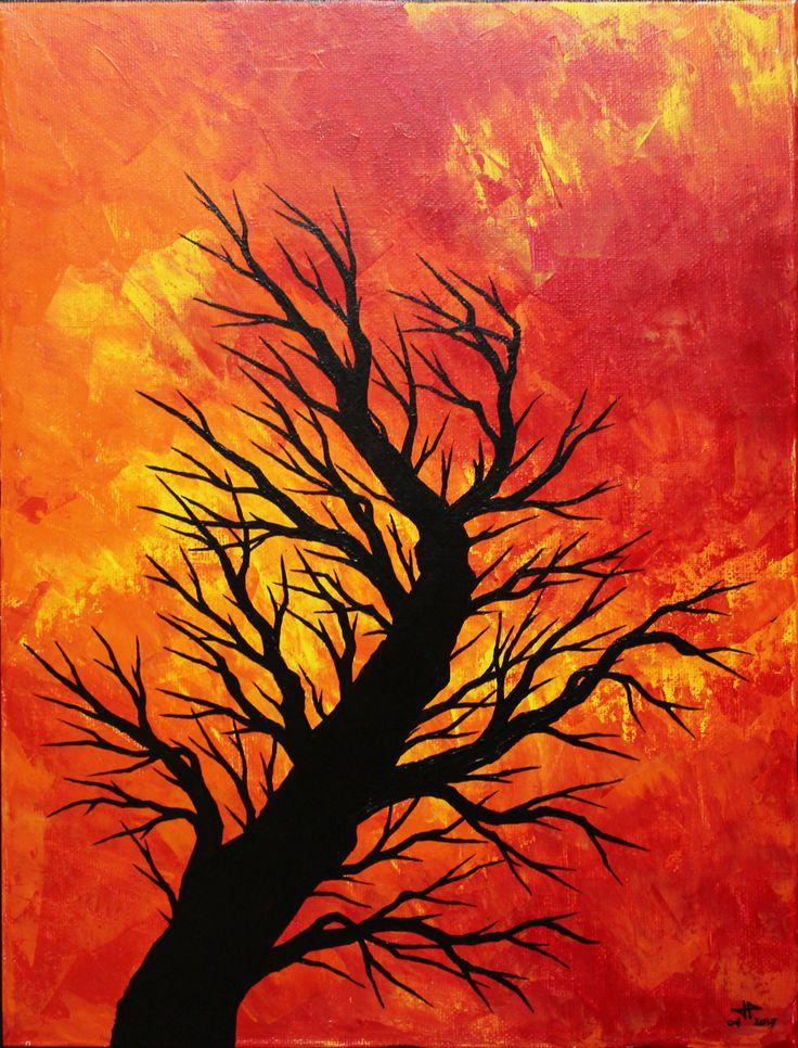 Tableau moderne : Arbre soufflé. Pour voir un aperçu vidéo de cette œuvre, rendez-vous sur : https://youtu.be/X66g8VWKVOA  Format : 35 cm x 26,5 cm x 1,5 cm. Pour acheter cette œuvre, rendez-vous sur : https://www.artmajeur.com/fr/art-gallery/gallery/1520011/9926212/arbre-souffle #peinture #contemporaine #silhouette #arbre #soufflé #vent #acheter #tableau #moderne #figuratif
