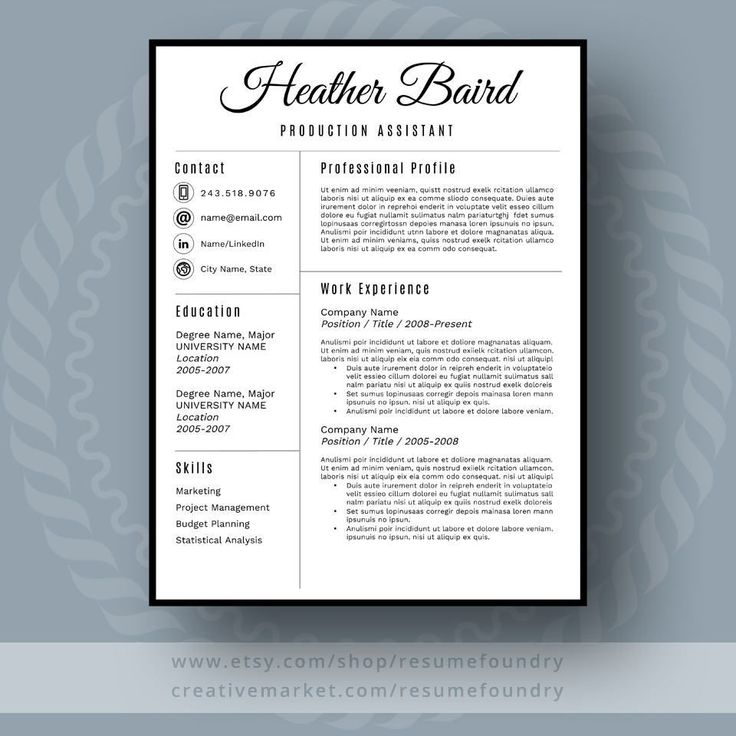 Stylish Resume Template the Heather Cover letter for