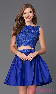 Buy Two Piece Homecoming Dress 6054 at PromGirl