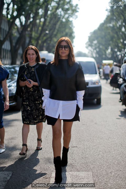 Streetstyle photoshoot during Milan Fashion Week See More Pic. http://www.icelebz.com/events/streetstyle_photoshoot_during_milan_fashion_week/