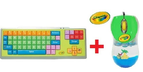 Crayola keyboard and mouse, for 'children'.