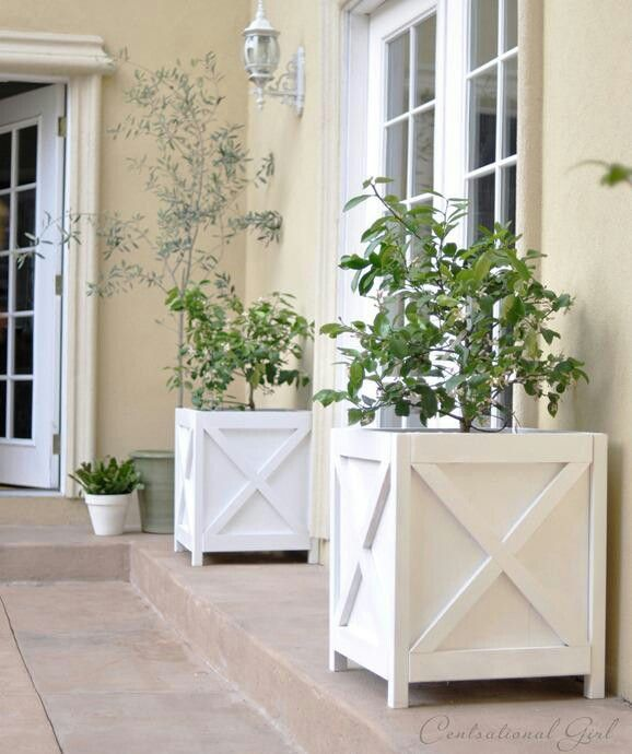 DIY Outdoor Furniture and Decor Ideas. Diy PlantersOutdoor PlantersPlanter  BoxesGarden PlantersWhite ... - 33 Best Wood Planter Tree Box Images On Pinterest