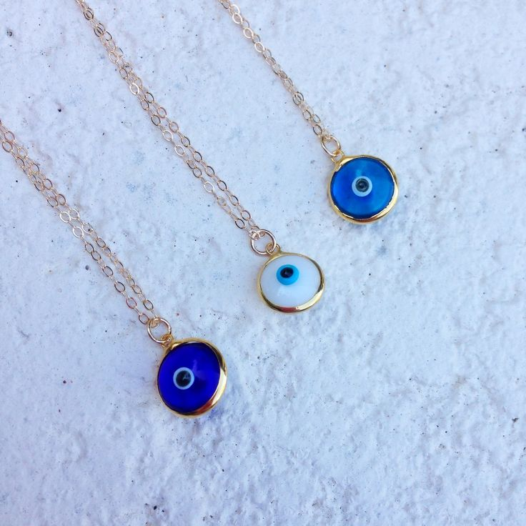 dainty evil eye necklaces, N K Designs ✧ pinterest // madigraham ✧