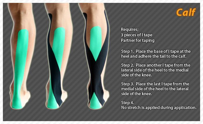 Calf #Ares #Kinesiology #Tape #Taping