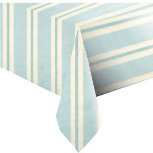 Premium Blue Stripe Paper Table Cover - Tablecovers & Runners - Summer Catering - Summer