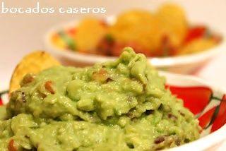 Bocados Caseros: Receta fácil de guacamole clásico Mexicano (easy r...