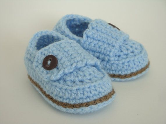 Baby Boy Button Loafers: Baby Blue, Babies, Buttons Loafers, Crochet Baby Boys, Baby Loafers, Blue Brown, Boys Buttons, Baby Crochet, Loafers Baby