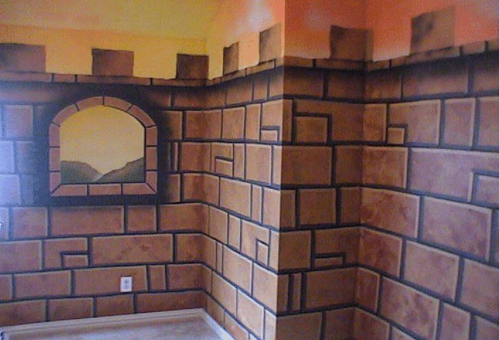 25 best ideas about castle mural on pinterest princess for Castle window mural