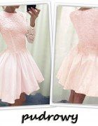 ROZKLOSZOWANA SUKIENKA KORONKOWA 2 kolory   Cena: 79,00 zł  #sukienki #innasukienka #sukienkainna