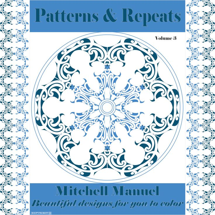 Patterns and Repeats Volume 3: 35 Beautiful designs for you to color by ColoringinBooklet on Etsy