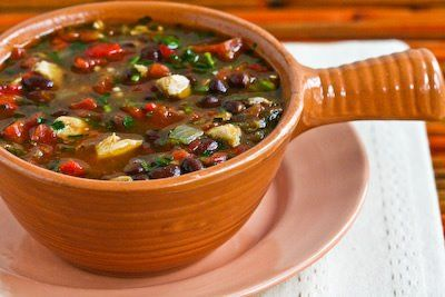 Black Bean Stew with Roasted Red Pepper, Chicken, and Cilantro | Reci ...