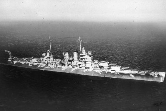 USS Wichita, a unique 8 in 'heavy' variant of the Brooklyn class light cruisers: she saw distinguished WW2 service, including in 1942 as an Arctic convoy escort (notably to the ill fated PQ17) and at the Operation Torch landings in North Africa; thereafter in the Pacific, notably at the battle of Leyte Gulf in 1944.