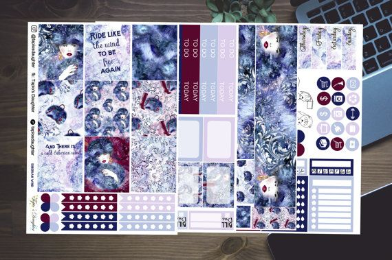 Erin Condren planner stickers white space weekly by TapiosDaughter