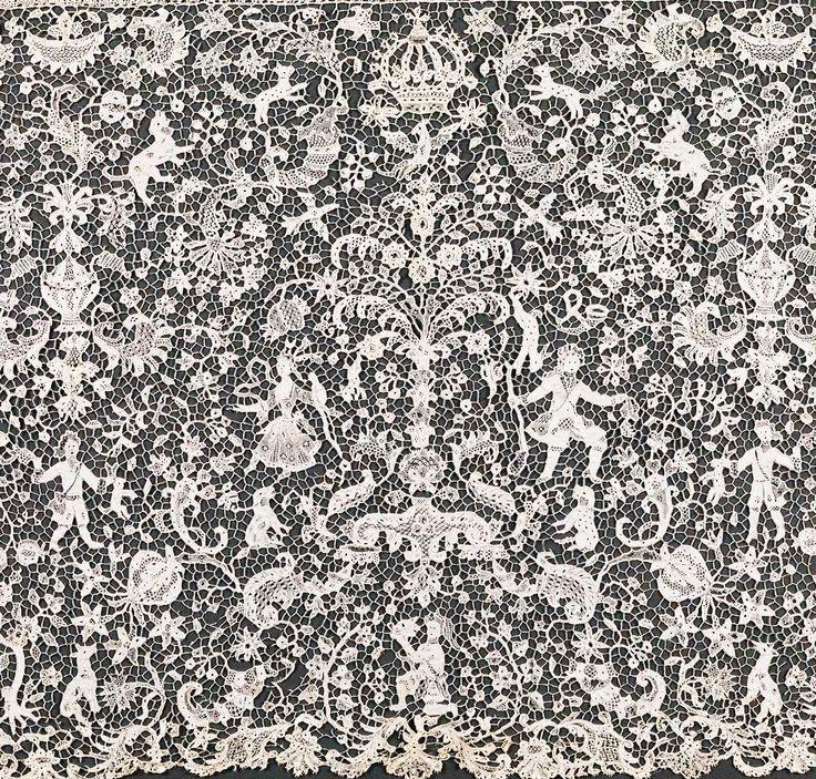 French Lace: Linen, Needle Lace (point De France)