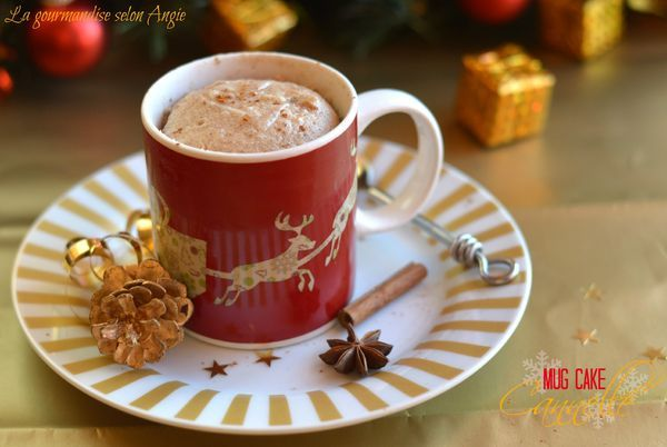 Mug cake de Noël {cannelle} sans matière grasse