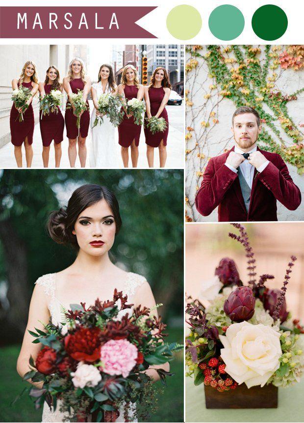 Свадьба цвета «марсала»: идеи для торжества - Cosmopolitan Bride