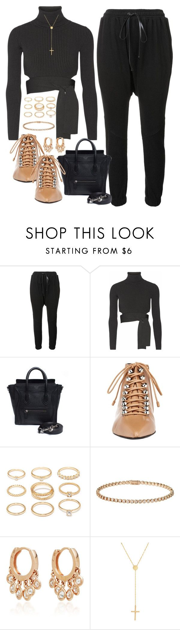 """I would like"" by liberhty ❤ liked on Polyvore featuring daniel patrick, Cushnie Et Ochs, CÉLINE, Balenciaga, Forever 21, Cartier, Jacquie Aiche and Lana Jewelry"