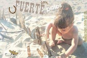 Juego de playa fuerte de palosFuerte con palos en la playa