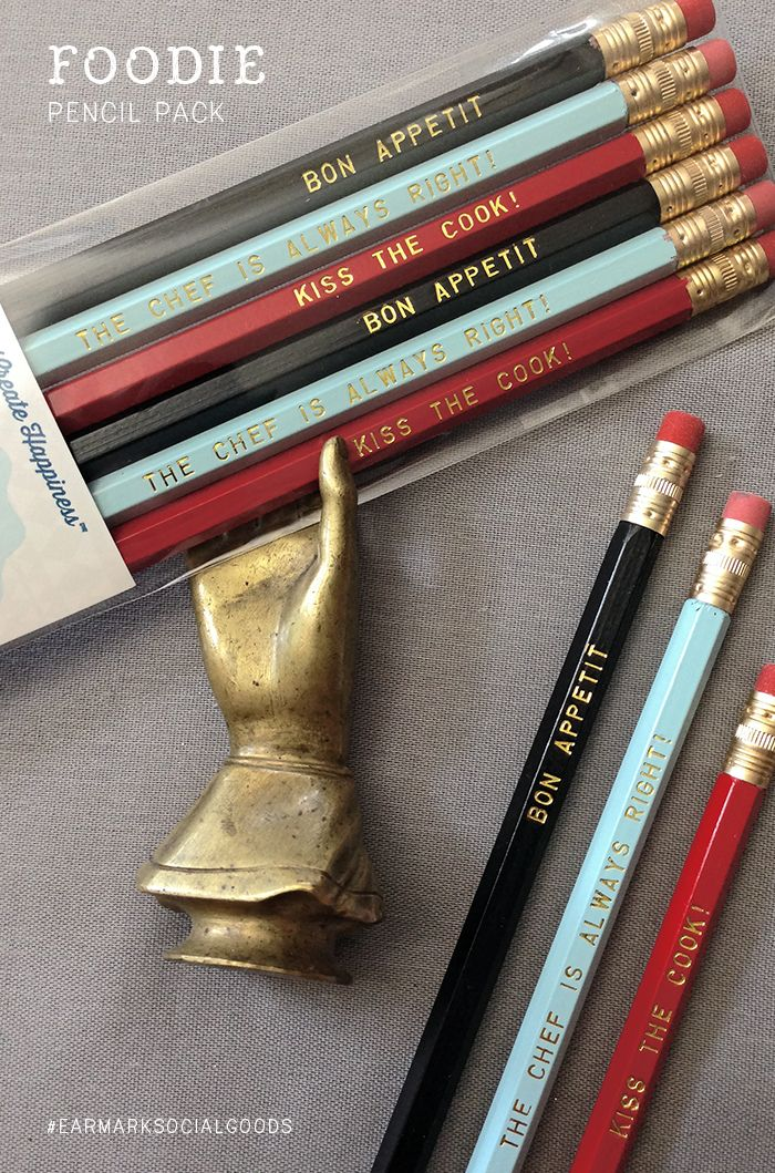 Christmas Gifts For Cooks Part - 35: Foodie Pencil 6 Pack