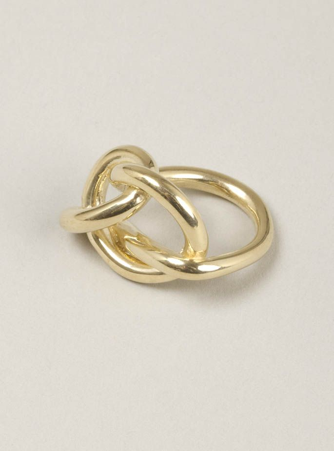 knotted ring in gold plate by helena rohner