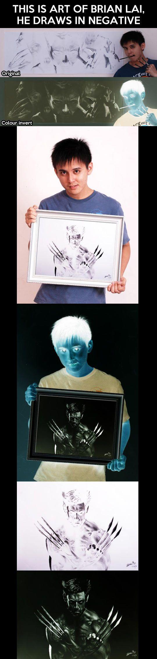 A positive appreciation for negative art... - The Meta Picture