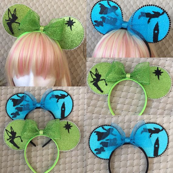 Peterpan/wendy/tinkerbell mouse ears disney ears by AdorableEars