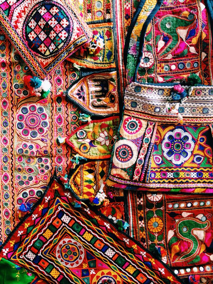 Mirror work embroidery (Gujrat)