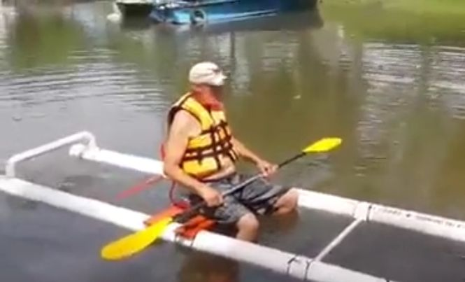 Wow Your Friends With A DIY PVC Kayak For About $50 In Plumbing Supplies