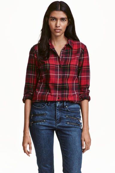Chemise à carreaux en flanelle | H&M