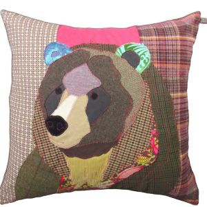 Bear Cushion by Carola van Dyke