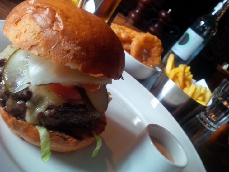 Cheeseburger from Heston Blumenthal's Crown pub in Bray.