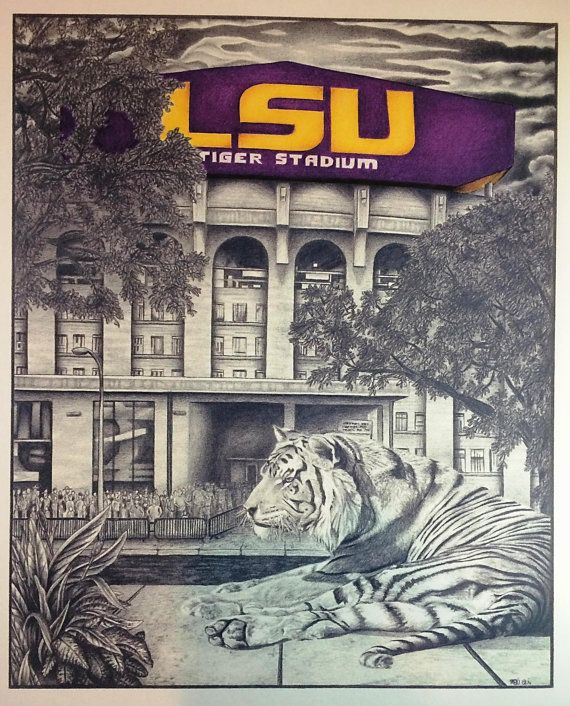 Hey, I found this really awesome Etsy listing at https://www.etsy.com/listing/219723693/guarding-lsu-tiger-stadium