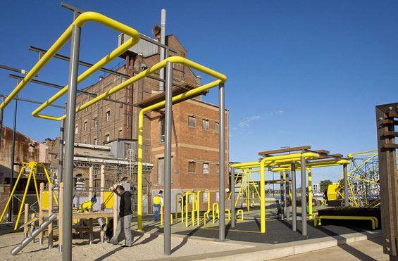 Hart's Mill Surrounds | Port Adelaide, Australia | ASPECT Studios #playground #australia #landscape #architecture #AspectStudios