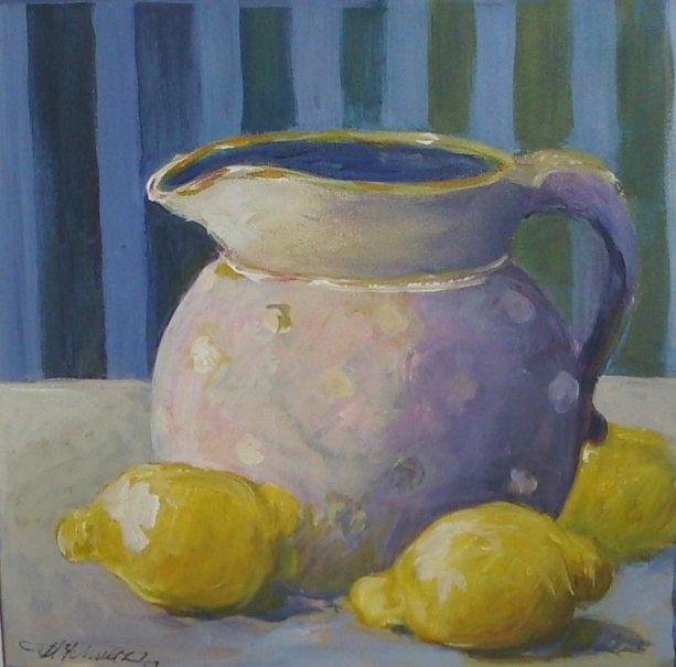 Painted in 2011 - 50 x50 cm by Mai-Britt Schultz