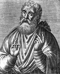 Justin Martyr, also known as just Saint Justin (AD 100–ca.165), was an early Christian apologist, and is regarded as the foremost interpreter of the theory of the Logos in the 2nd century. Most of his works are lost, but two apologies and a dialogue did survive. He is considered a saint by the Roman Catholic Church, the Anglican Church, and the Eastern Orthodox Church.