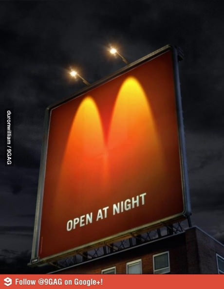 Clever advertising by McDonald's, touché McDonald's.